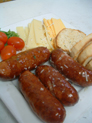 "Our delicious ""Edwards Smoked Sausages"" appetizer."