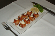 "Our ""Wanchese N.C. Bacon Wrapped Scallops"". Delicious!"